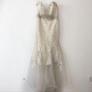 Mori Lee strapless wedding gown
